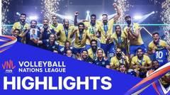 Match Highlight | Final | VNL MEN'S - Brazil 3 vs 1 Polandia | Volleyball Nations League 2021