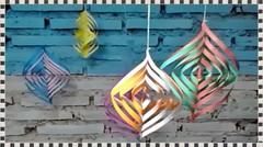 Hiasan Gantung Kertas Origami Warna Warni