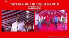 Dialog Presiden Jokowi saat Tinjau Vaksinasi untuk Pelajar, Tarakan, 19 Oktober 2021