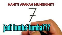 HEBATNYA, cara menggambar angka 7 menjadi LUMBA-LUMBA