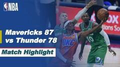 Match Highlight   Dallas Mavericks 87 vs 78 Oklahoma City Thunder   NBA Regular Season 2020/21