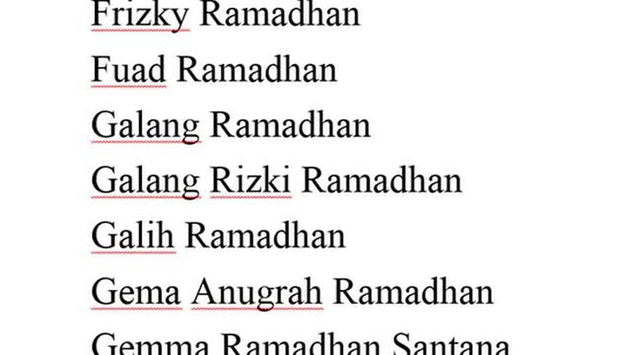 Streaming Contoh Nama Bayi Laki Laki Yang Lahir Pada Bulan Ramadhan Awalan Huruf F G H Dan I Vidio Com