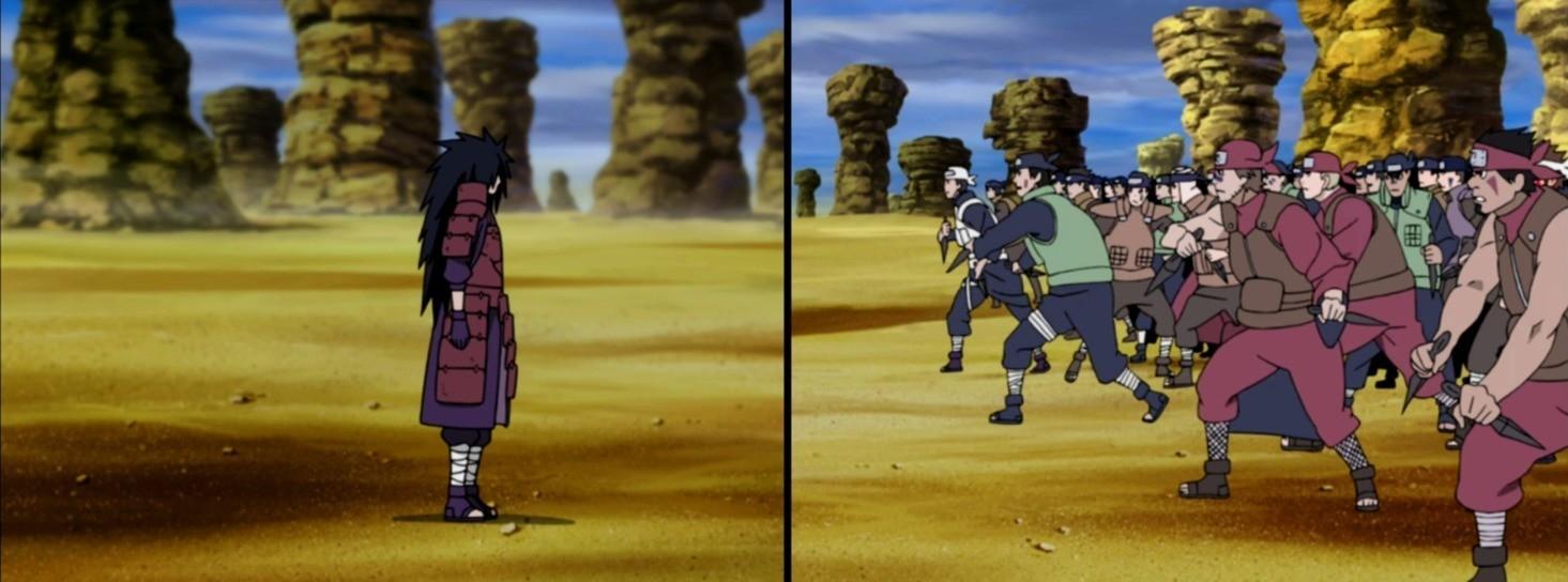 Naruto Sasuke Aliansi Shinobi Vs Madara