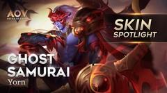 Ghost Samurai Yorn - Skin Spotlight Garena AOV ( Arena of Valor )