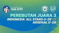 SCTV   U-20 International Cup Bali   Indonesia  All Stars U20 vs Arsenal U20 - 07 DEC 2019   15:00 WIB