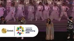 Rian D'MASIV, Ariel NOAH, Sheryl Sheinafia, dan Cakra Khan - Bright As The Sun | Opening Ceremony Asian Games 2018