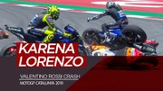 Insiden Valentino Rossi Crash karena Jorge Lorenzo di Catalunya