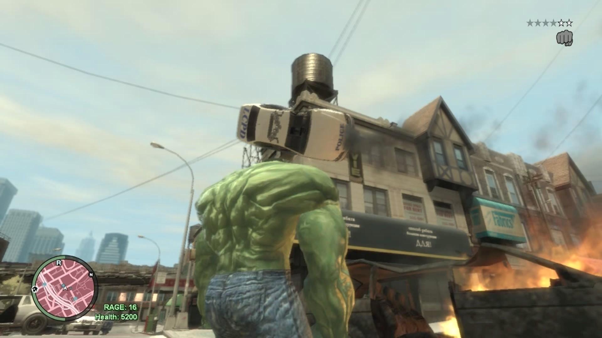 GTA 4 - Si Hulk Ngamuk Bikin Kacau di Liberty City (Hulk Mods)