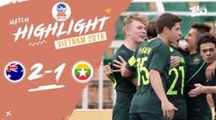 Full Highlight Semi Final - Australia 2 VS 1 Myanmar   Piala AFF U-18 2019