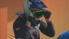 Aksi Toni Syarifudin di Perempat Final BMX