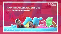Inflatable Water Slide: Buat Kolam Renang Sendiri ala TheRempongsHD   BukaPaket for Kids