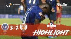 Full Highlight - Arema FC 2 vs 2 Borneo FC | Shopee Liga 1 2019/2020