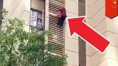 Spider-granny dari Cina, panjat turun gedung apartemen - TomoNews
