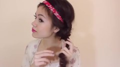Heatless Curls with a Headband
