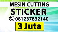 PUSAT MESIN CUTTING STICKER YOGYAKARTA ALAT POTONG STIKER VINYL CATING POLYFLEX TERMURAH