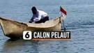 Demi Jadi Prajurit Angkatan Laut, Pemuda Kayuh Perahu ke Tempat Pendaftaran