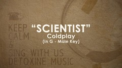 Scientist (Cold Play) piano track - Male Key