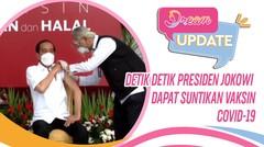 Detik Detik Presiden Jokowi Dapat Suntikan Vaksin Covid-19