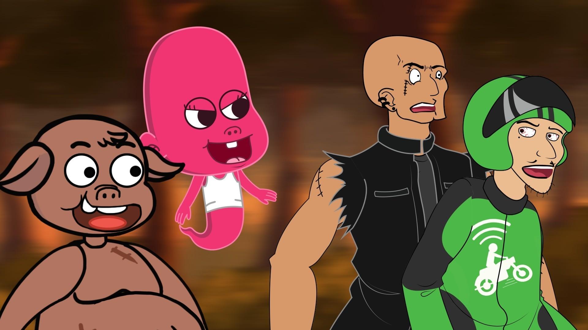 Kartun Lucu Sesajen Si Mbah Dunia Si Etan Animasi Horor Lucu
