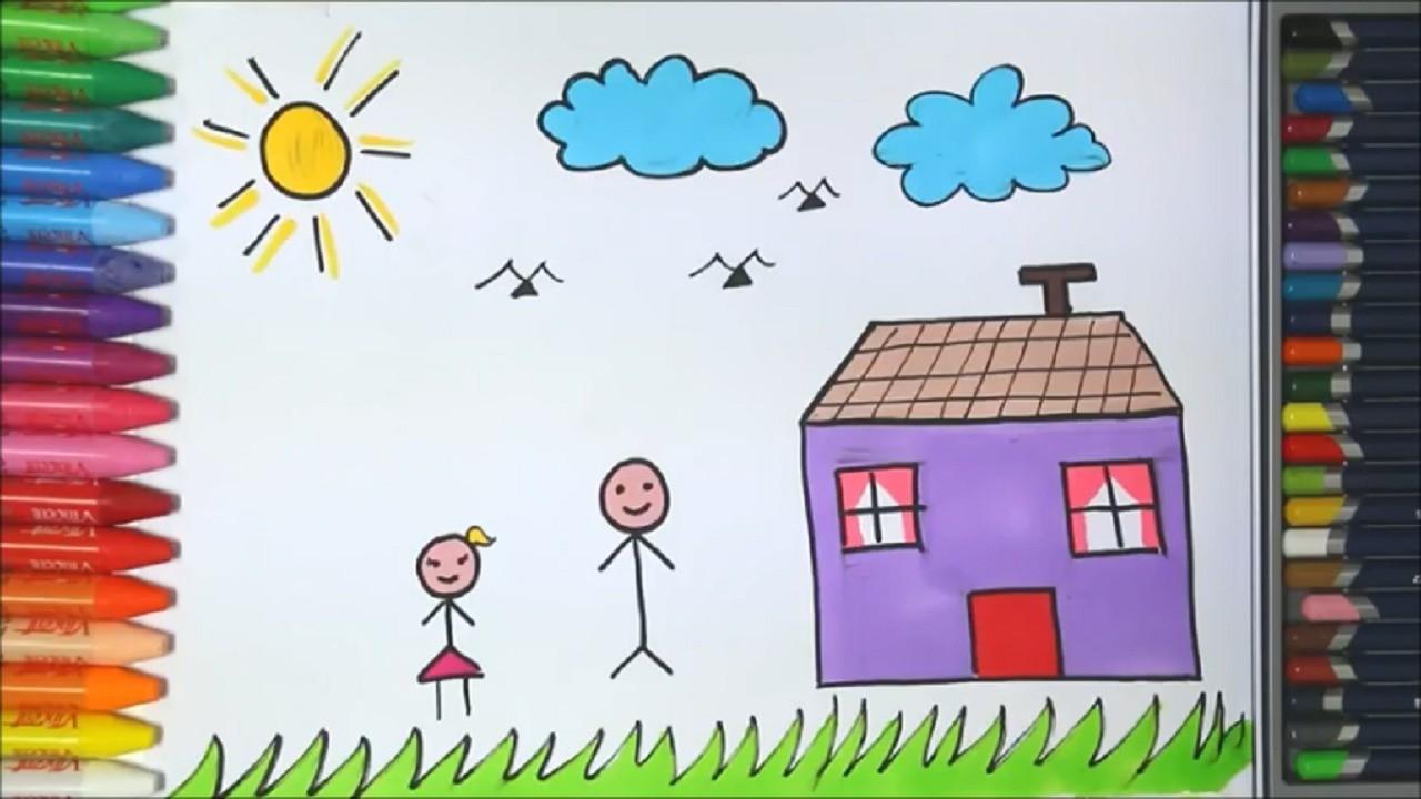 Menggambar Rumah Belajar Gambar Dan Mewarnai