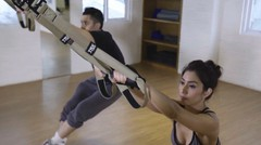 TYAS TRX - Low Row Legs Cross