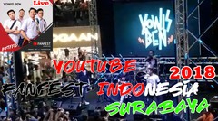 "Full Video Performance ""YOWIS BEN"" Youtube Fanfest Indonesia 2018 Di Surabaya"