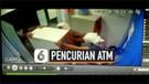Rekaman CCTV Tiga Orang Pencuri Angkut Mesin ATM dengan Tangan Kosong