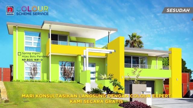 Kombinasi warna cat Hijau Bolu Pandan untuk Rumah - Vidio.com