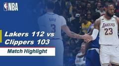 Match Highlight   Los Angeles Lakers 112 vs 103 LA Clippers   NBA Regular Season 2019/20