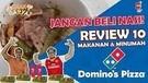 JANGAN BELI NASI! Review 10 Makanan dan Minuman Domino's Pizza! Enak Ga Ya Ep 10