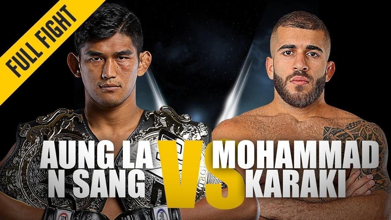 ONE Full Fight Aung La N Sang Vs Mohammad Karaki Championship Knockout October 2018