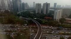 Penampakan Jembatan baru Semanggi dari lantai 23