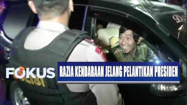 Cegah Massa Ke Jakarta Tni Polri Razia Kendaraan Di: Cegah Masuknya Perusuh Saat Pelantikan Presiden, Polisi