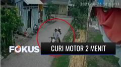 Terekam CCTV, Kurang Dari 2 Menit Dua Pemuda Curi Motor di Bekasi | Fokus