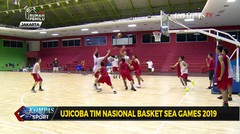 Ujicoba Tim Nasional Basket Sea Games 2019