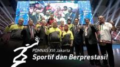 POMNAS XVI Jakarta_ Semangat, Sportif, Berprestasi Berlanjut ke Padang!