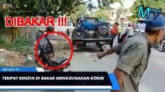 Marah Kena Razia , Motor di BAKAR ! Video VIRAL di SULAWESI