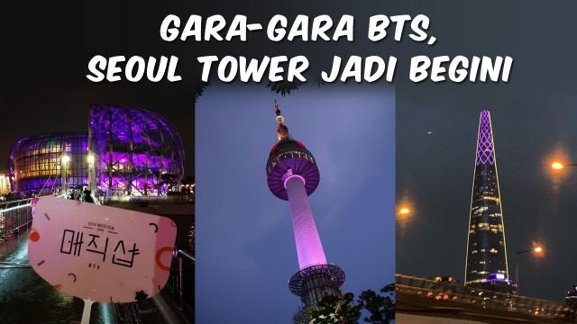 TOP 3 Gara-Gara BTS, Menara Seoul jadi Ungu