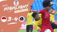 Full Highlight Semi Final - Indonesia 3 VS 4 Malaysia   Piala AFF U-18 2019