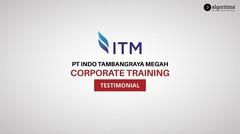 Corporate Training - PT Indo Tambangraya Megah | Testimonials