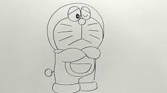 menggambar doraemon itu sangat mudah / draw doraemon is easy