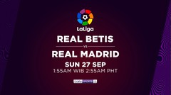 Real Betis vs Real Madrid - Minggu, 27 September 2020 | La Liga Santander 2020